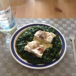 Fisch an Kartoffelbrei mit Spinat 1