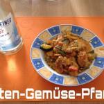 Puten Gemüse Pfanne mit Feta Käse