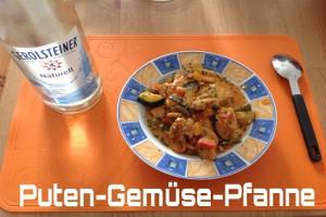Puten-Gemüse-Pfanne mit Feta-Käse
