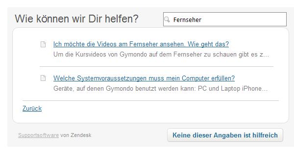 Gymondo Service