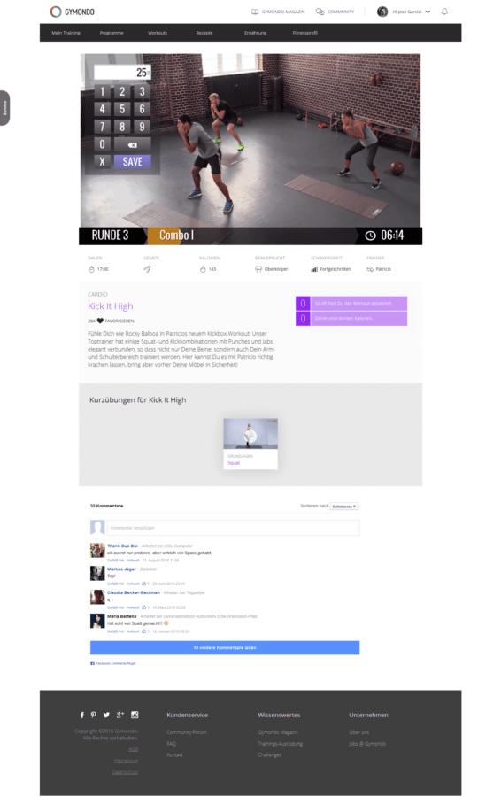 Gymondo Workout Screenshot 2