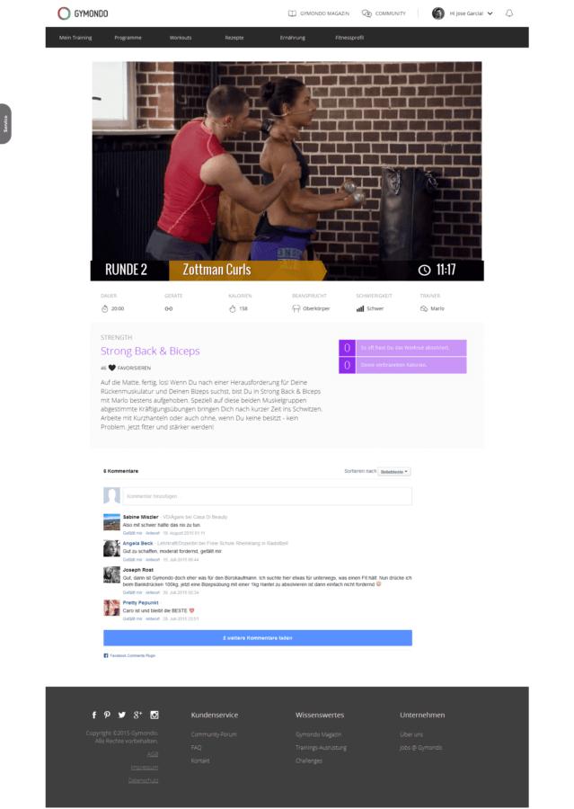 Gymondo Workout Strong Back Biceps 2