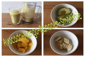 Avocado-Mango-Bananen-Smoothie - Nicht nur lecker, sondern auch gesund.