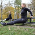 Calitary Training Dips im Freien