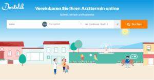 Doctolib Webseite Screenshot