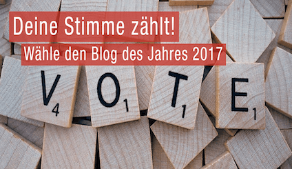 Blog Award 2017 Abnehmen 3.0 wurde nominiert